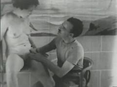 Old Time B&W Porno Scene - Gentlemens Video
