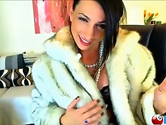 Exotic foreign girl smokes and teases