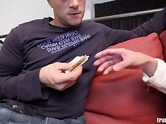 horny tranny Larissa Weyckert gets fucked!