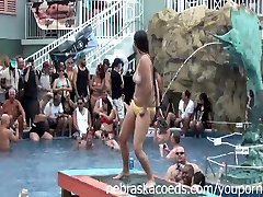 Fun Loving Girls Partying Naked at Pool Party Dantes Club Key West