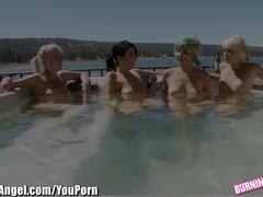 Burning Angel Punk Rock Lesbian Hot Tub Orgy