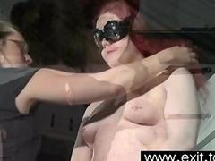 inventive lesbian femdom in BDSM basement