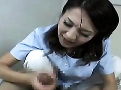 Asian chick blows a rod at work and goes home to suck on an