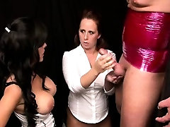 Beautiful Amy watches while Lea performs handjob