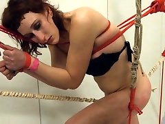 To much of rope and extreme blood girl friend fucked submissive banging