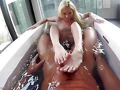 Elsa Jean POV style pussy thrashing