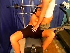 Brunette whore big tits gives big with big cock blowjob