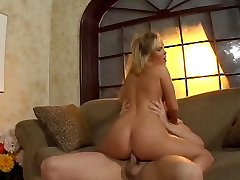 Blonde slut with a beautiful fat ass gets fucked from the back