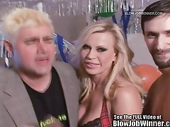 Classic Porn Star Amber Lynn Sucks Cock!