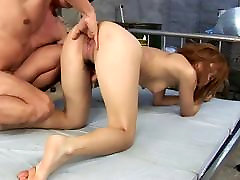 Slender whore gets hard anal fuck doggy style