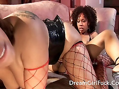 Two Horny Ebony Licking Pussy And Play Their Toys