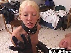 Boney Blonde Bondage Pain ZAPPING