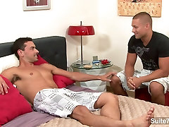 Sexy gay gets anally nailed and cummed