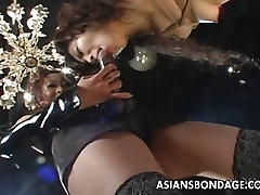 Naughty and kinky pain anaal challenge for the Asian floozy