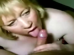 Blowjob by blonde mature, home porn