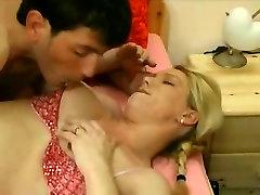 Pierced blonde bbc creampie on porn star MILF fucking