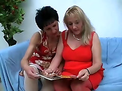 Two Mature Ladies In Stockings Getting Fucked