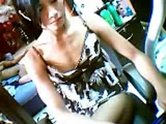Sexy asian girl show her pussy