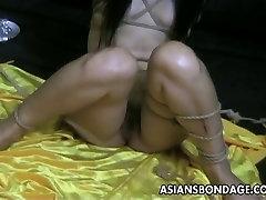 Bound bitch is totally passed out treated and humiliated by the master