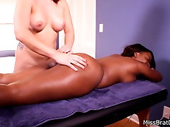 Lesbian Massage Harmonie Marquise Big Black Booty